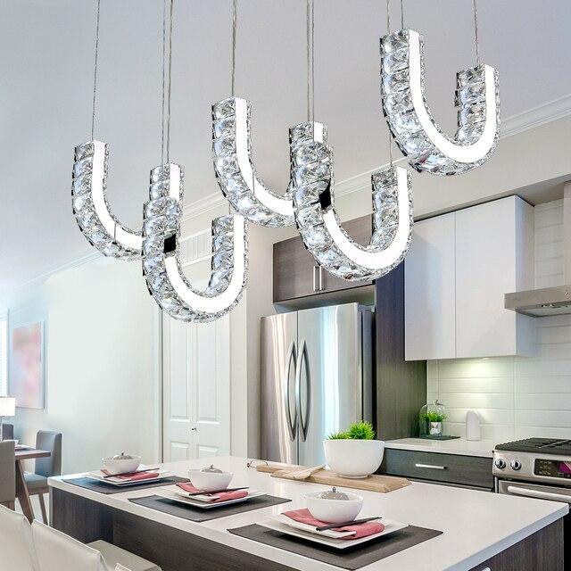 € 116.41 20% de réduction|Nouveau luminaire suspendu pendentif LED moderne  idéal pour salle à manger cuisine salle suspension luminaire suspendu ...