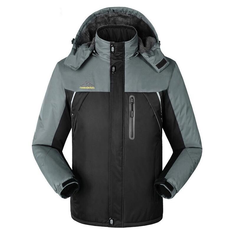 M-8XL Winter men jackets thermal thick jacket coat for men Velvet Windbreaker male fashion jacket outwear Waterproof Windproof