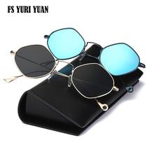 High Quality Hexagon Sunglass Women Men New Brand Designer Sunglasses Women Geometry Sunglass Anti-radiation Ladies Brand Design