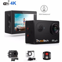 Dveetech Waterproof 30M Action Camera 4K Wifi 16MP 1080p Full HD Underwater Camera Sport Action Video Outdoor Camera with Remote