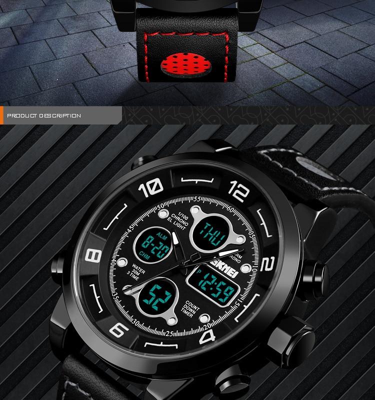 SKMEI 2019 Men\`s Wrist Watches Top Brand Luxury Watch Men Sports Leather Watches Business Digital Watch For Men reloj hombre (2)