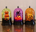 60pcs Creative Pumpkin Light Fashion Halloween Decoration Desktop Battery Powered Witch Lamp Ornaments Gift For Kids