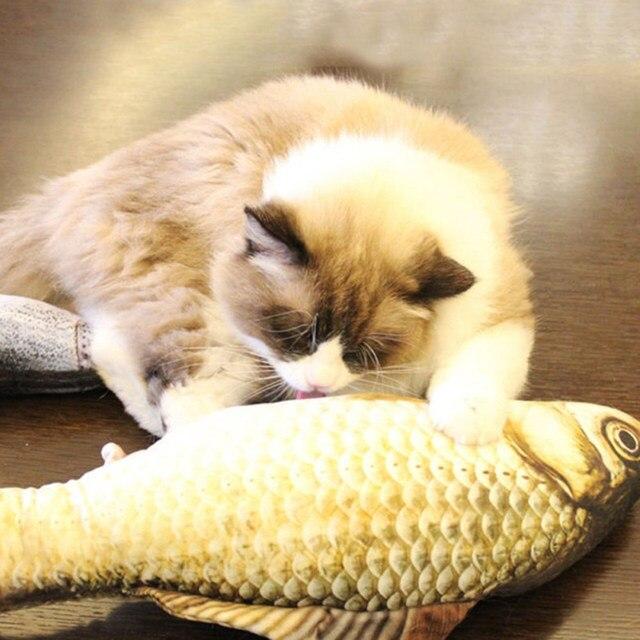 Cat Pesce Simulazione Giocattoli Catnip Pet Kitten Cuscino Erba Morso Chew Diver