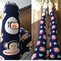 Summer del resorte del mono delgado pantalones elasticidad leggings pantalones de las mujeres dama de la moda lindo encantador del corazón de dibujos animados sonrisa monos del alfabeto