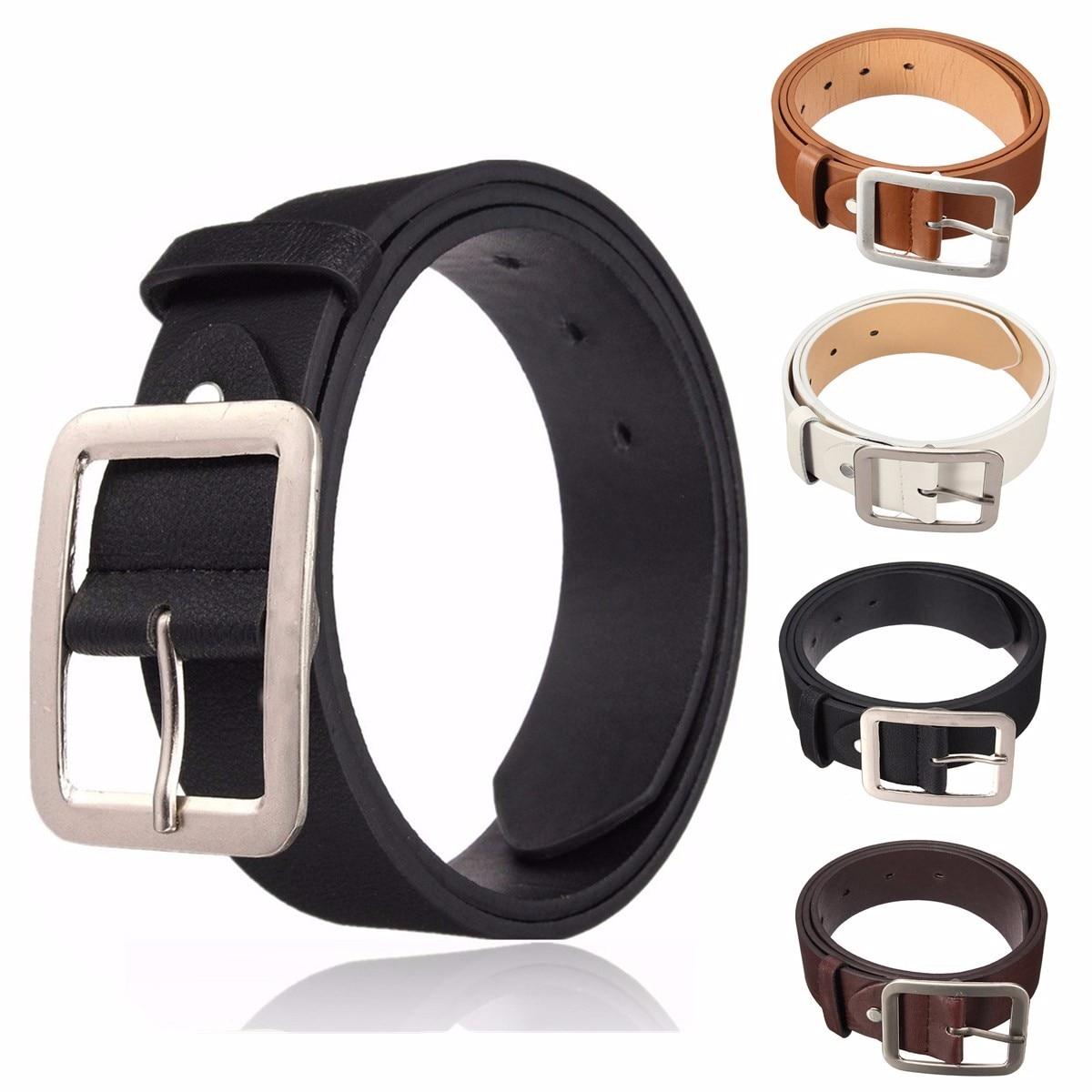 New Pin Buckle PU Leather Men   Belts   Retro Fashion Strap Male   Belts   Buckle Fancy Vintage Jeans cintos masculinos Men Waistband