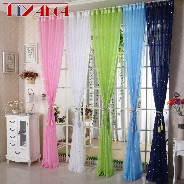 Lustro Star Bambini Bianco Tulle Tenda Per Soggiorno Cucina Blu Rosa Lane e Fila