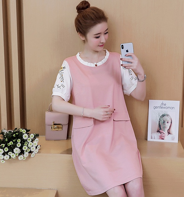 New summer maternity clothing maternity dresses pregnancy women cotton dresses high quality dress maternity summer clothing 1621