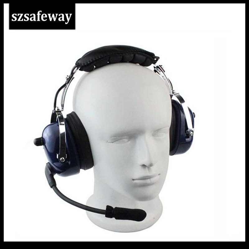 Walkie Talkie Headphone Aviation Headset For KENWOOD BAOFENG UV-5R BF-888s Retevis H777