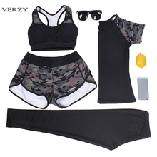New 2017 Hot Gym Sport Suit Women Yoga Set Sportswear Tights Leggings Quick Dry Sport Bra