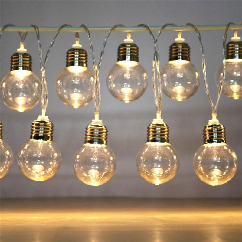 10/20 светодиодный лампочка, световая гирлянда, питание от аккумулятора, водонепроницаемая Праздничная атмосферная строка Феи огней, Рождественское украшение для свадебной вечеринки|Светодиодная лента|   | АлиЭкспресс