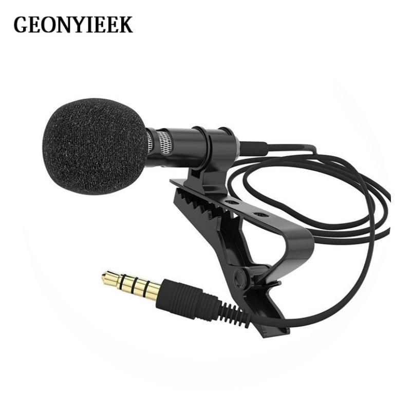 Portable 3.5mm Jack Microphones Clip-on Lapel Lavalier Microfone Condenser Mikrofon For Teaching Speech Mobile Phone