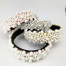 4colors Pearl Headband Full pearl hair band for Women Fashion Korean Style Vintage Accessories Hairband