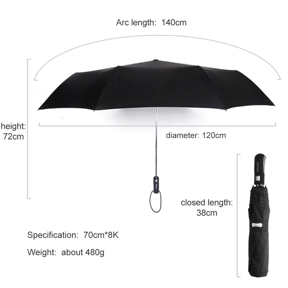 Ekte merkevare stor folding paraply regn 1,2 meter forretninger menn - Husholdningsvarer - Bilde 4
