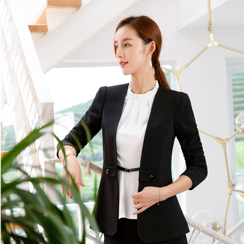 13078bda15 Manteau Styles Blazers Femme 2018 Ol Outwear Automne Vêtements Uniformes  Mode Femmes Hiver black Blanc Designs ...