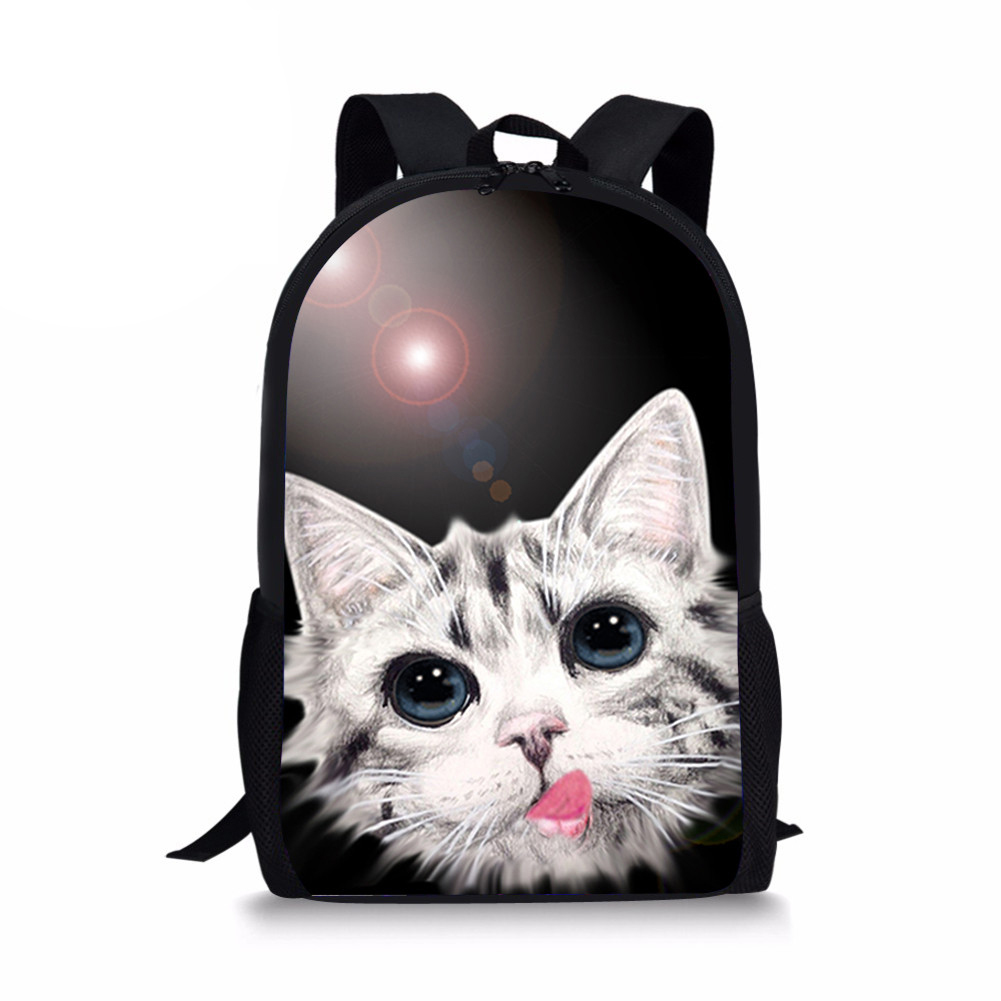 Customized Kawaii Cat Cute School Bag for Teenager Girls Students Primary School Backpack Schoolbag Kids 16 Inch High Quality