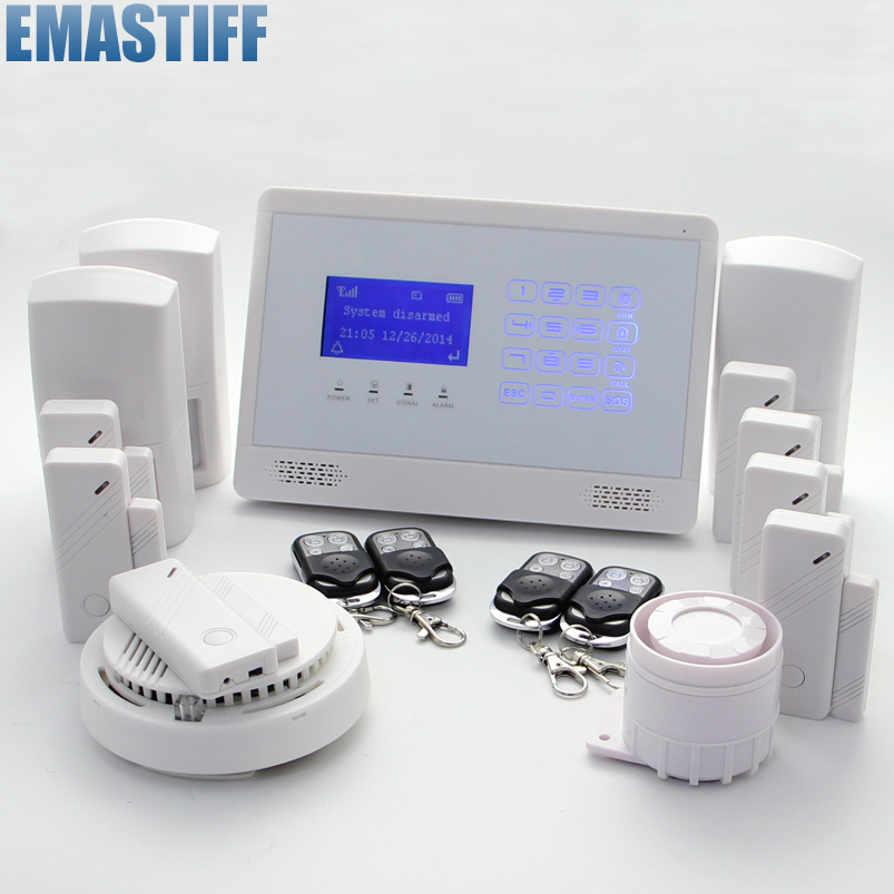 free shipping Intercom home security wireless GSM alarm system 2 year warranty 850/900/1800/1900MHZ with russian,Italian voice 850 900 1800 1900mhz russian english spanishwired and wireless lcd home security gsm alarm system