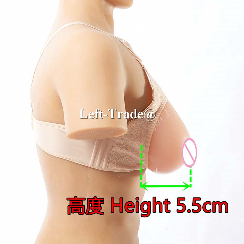 ФОТО 38C 85C water drop silicone artificial breasts with beige bra sexy tits real touching false boobs for crossdressers