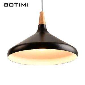 Image 5 - BOTIMI Nordic Retro Pendant Lights For Dining Kitchen Lampadario Vintage Metal Hanging Lamp Indoor Luminaria Light Fixtures