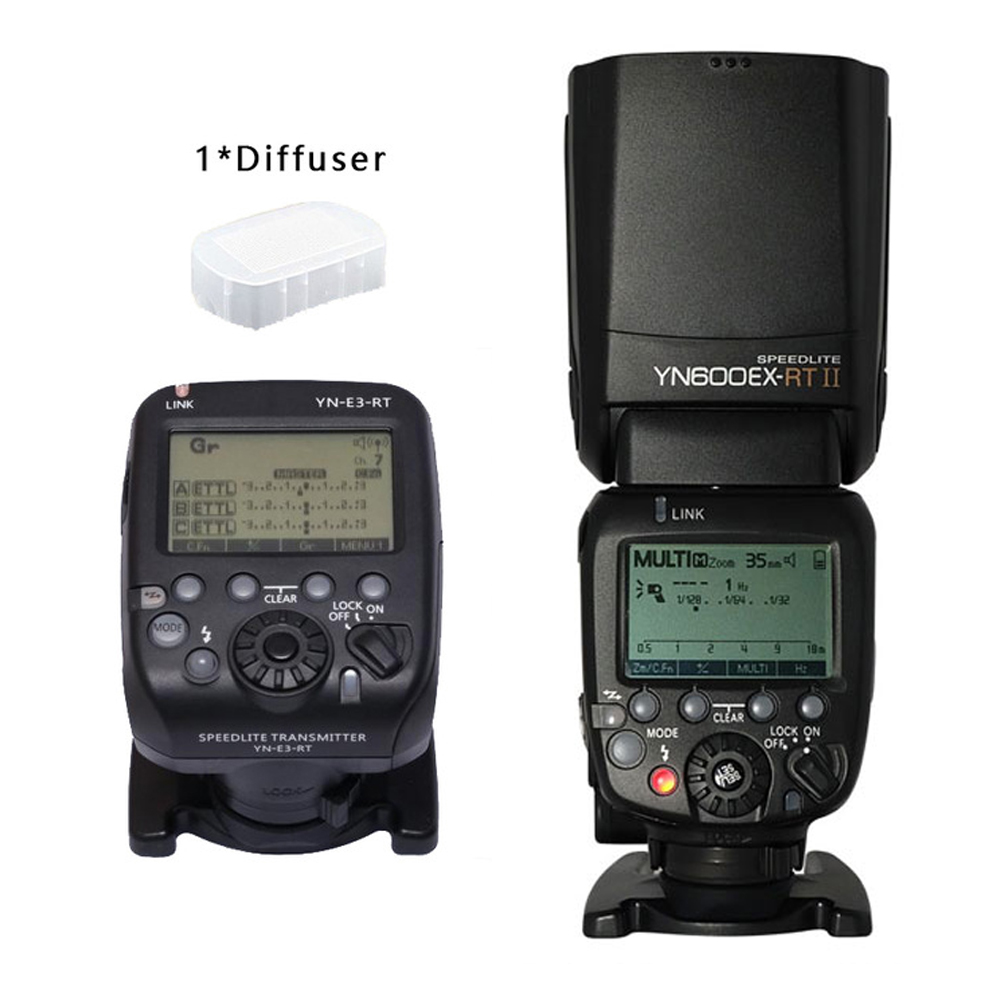 YONGNUO YN600EX-RT II YN600EX RT with YN-E3-RT For Canon 6d 60d 550d 650d DSLR Cameras  HSS TTL Flash Speedlite Flash Controller yongnuo yn600ex rt ii 2 4g wireless hss 1 8000s master ttl flash speedlite or yn e3 rt controller for canon 5d3 5d2 7d 6d 70d