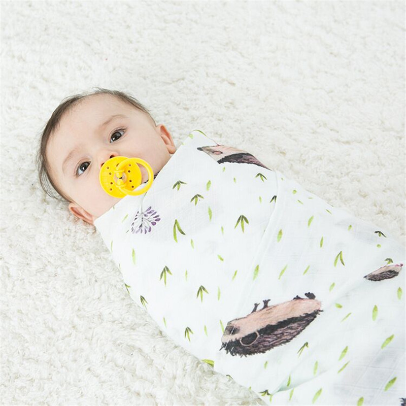 Muslin Tree Baby Blanket Muslin Swaddle Wraps Cotton Bamboo Baby Blankets Newborn Bamboo Muslin Blankets