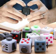 1.3 inch Fidget Cube 3.3*3.3cm Anxiolytic Upgrade Magic Cube Fun Relieve Stress Cube Decompression Toy(China)