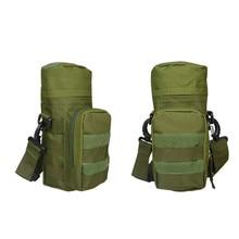 Outdoor Multi-functional Camouflage Water Bottle Bag Waist Hanging Military Large Kettle Pack Crossbody Bags Waterproof Nylon