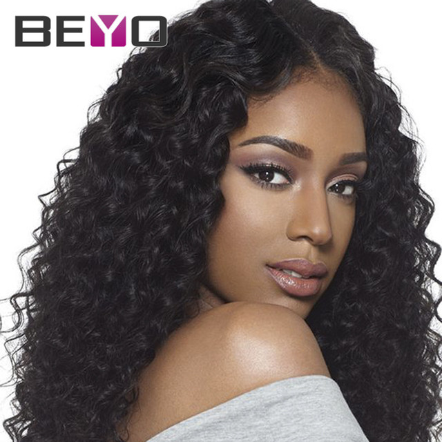 Glueless Lace Front Human Hair Wigs Malaysian Hair Full Lace Wigs Malaysian Virgin Hair Lace Wig Deep Wave Curly Lace Front Wig