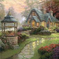 Diamond Embroidery Dream House Diy Diamond Painting Square Drill Rhinestone Pasted Full Cross Stitch Crafts Needlework