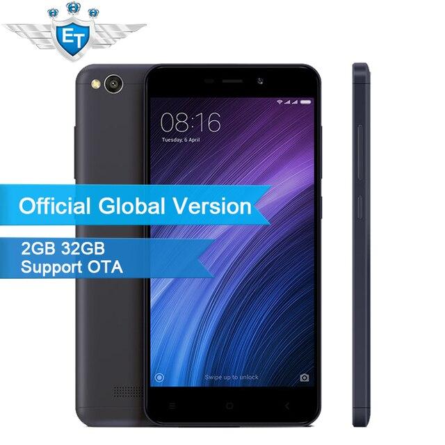 Original Global Version Xiaomi Redmi 4A 4 A 2GB 32GB Mobile Phone 5.0 Inch Snapdragon 425 Quad Core 13MP Camera 3120 mAh LTE OTA
