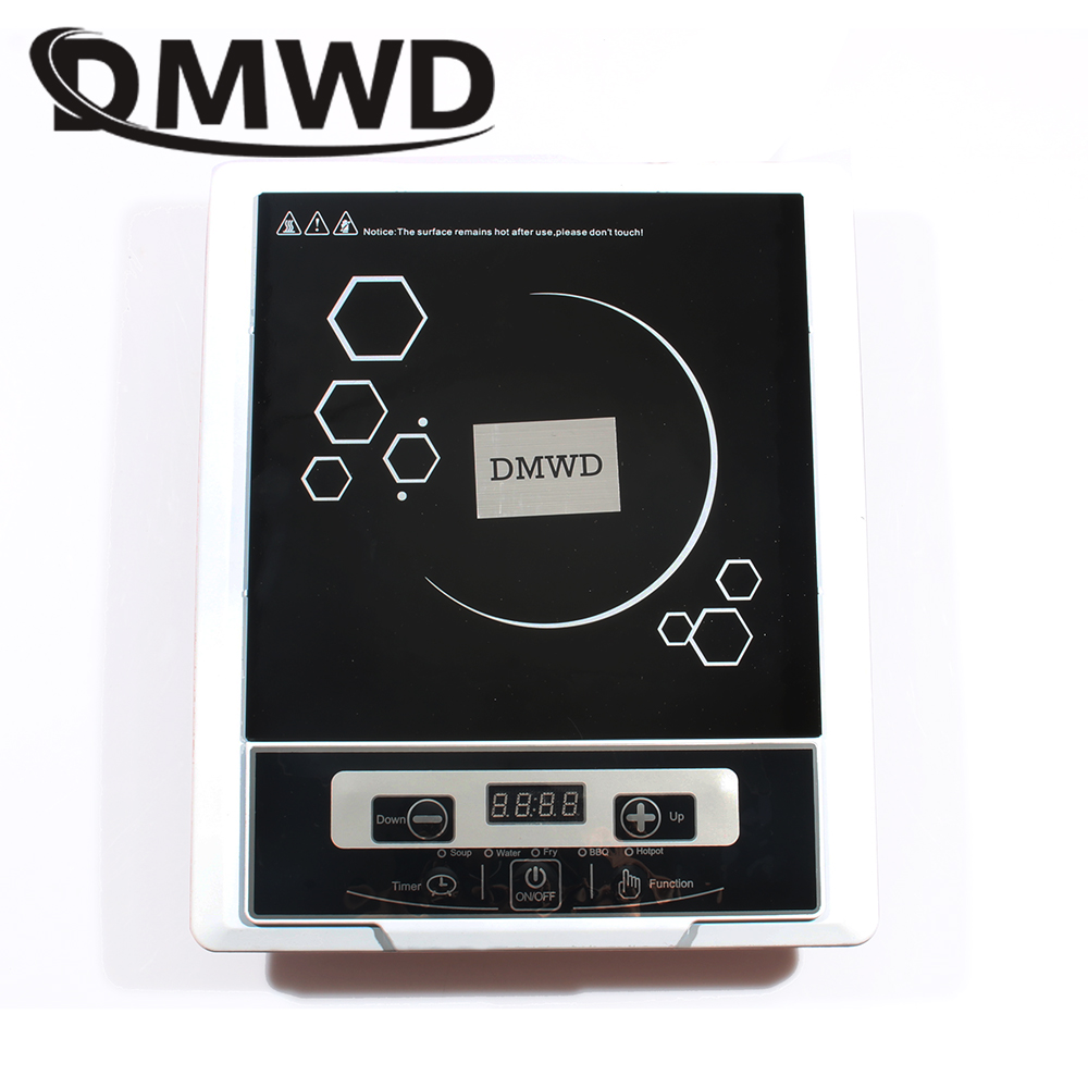 DMWD Electric induction cooker Waterproof high power button magnetic induction cooker intelligent hot pot stove 110V 220V EU US