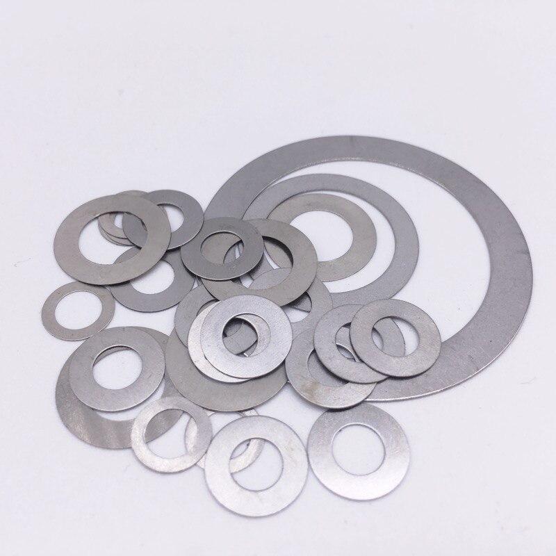 100 Pcs Thickness 0.1mm Flat Washer Ultrathin Gasket Thin Shim Washer Stainless steel M5 M10 M12 M14 M15 M16 M17 M18 M20 M25