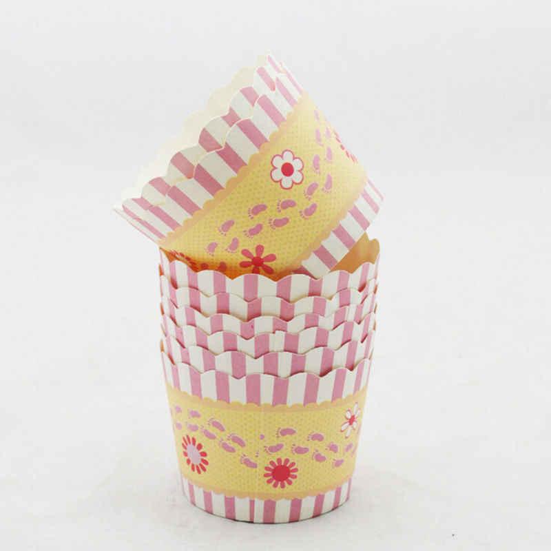 HOT 50PCS Animal Da Flor Forro Do Queque Xícara de Bicarbonato de Casos de Muffin De Papel Rodada Caixa de Copo Bandeja Bolo Mold Decoração Vegetal ferramenta