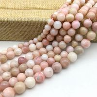Natural Peruvian Pink Opal Stone Round Bead A Quality 4 Mm 6 Mm 8 Mm 10