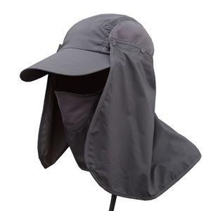 Fishing Caps Hiking Camping Visor Hat UV Protection Face Neck Cover Fishing Sun Protect Cap Vissende Zonnehoed(China)
