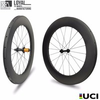 YUAN AN carbon wheels 88*25mm TUBULESS Matte or glossy 28 inch carbon wheelset bicycle time trial wheelset carbon track wheel
