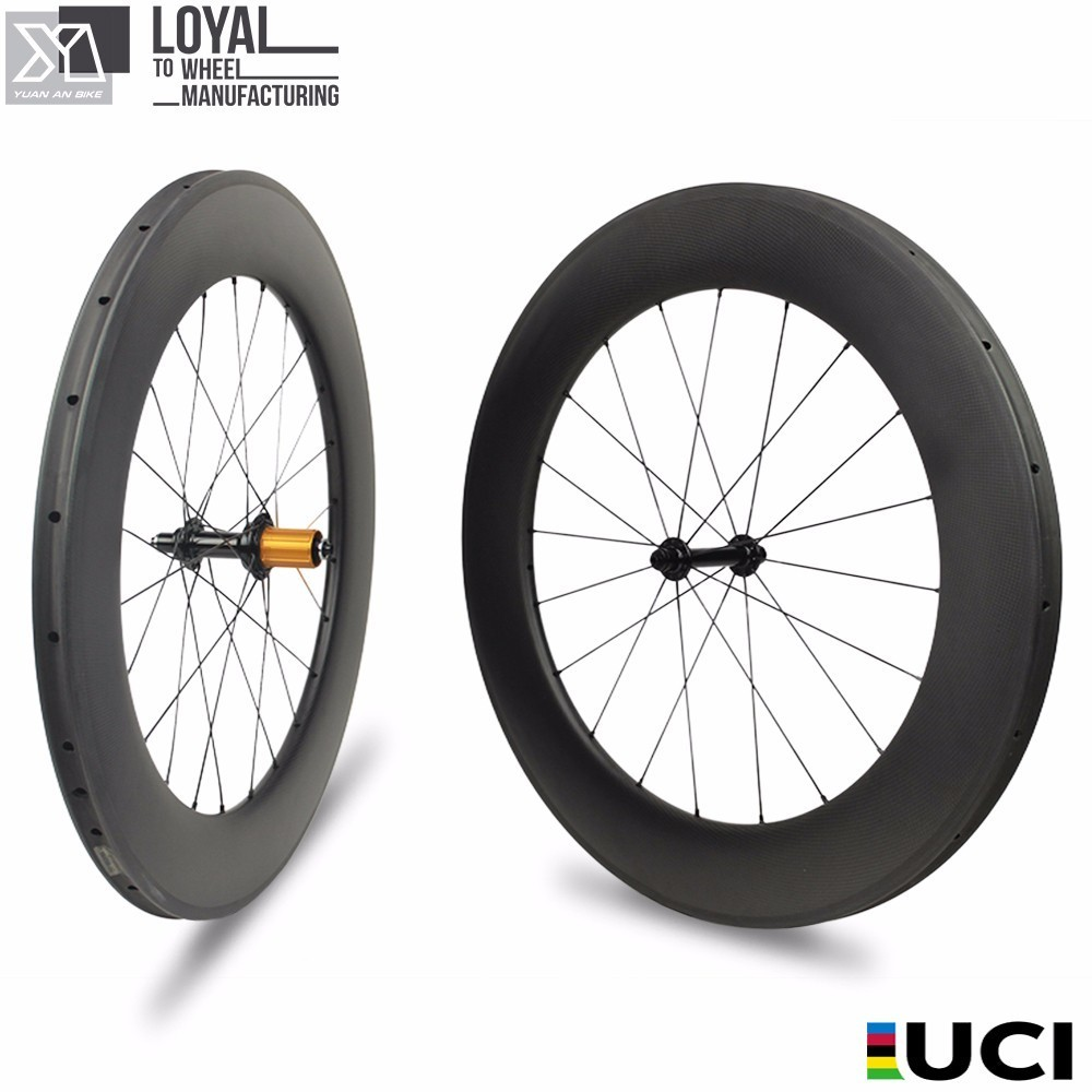 YUAN AN Carbon Wheels 88 25mm TUBULESS Matte Or Glossy 28 Inch Carbon Wheelset Bicycle Time