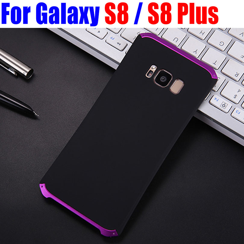 Luxury Fashion Lightweight Aircraft Aluminum Metal Frame + Matte PC Back Case for Samsung Galaxy S8 Plus S812