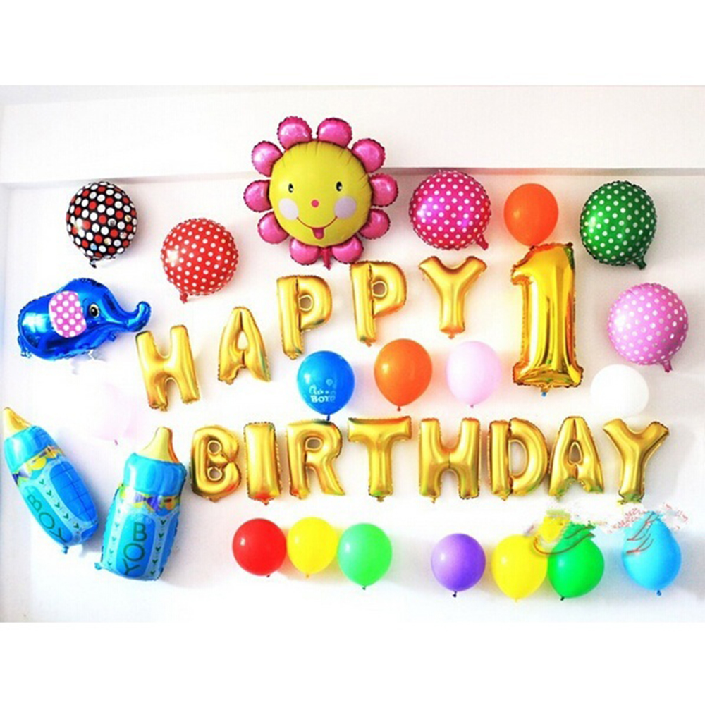 16 inch English Alphabet Balloon Set Birthday Party Happy Birthday ...