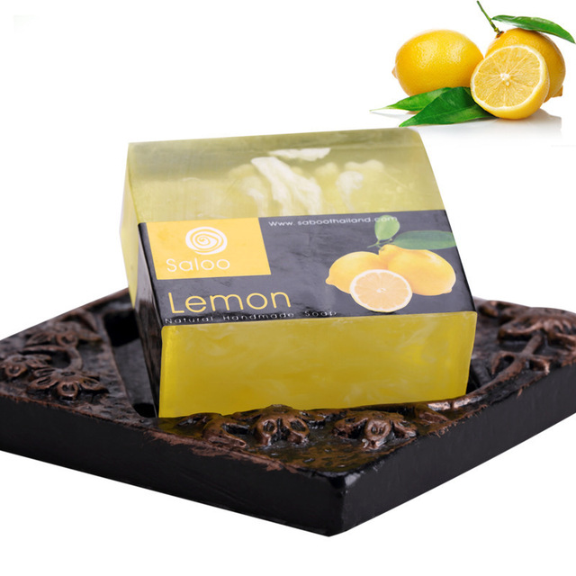 Lemon Essential Oil Handmade Soap 100g Natural Face Care Handmade Soap Replenishing Whitening