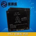 Reprap 3D принтер 214x214 мм MK3 подогревом кровать алюминия отопление кровать reprap отопление кровать лист 3 мм толщина