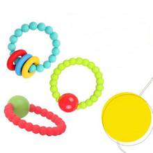 Perle En Silicone Dentition Baby Pacifier Beads Teething Chewable Newborn Nursing Teether Necklace Accessories