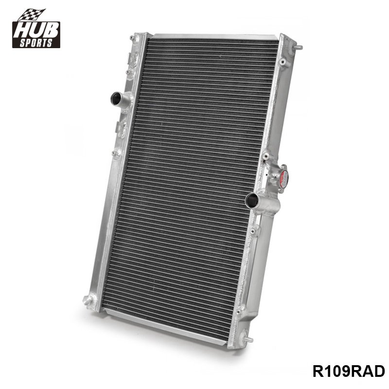 42MM 2 Row Aluminum Alloy Racing Cooling Performance Radiator For Mitsubishi Lancer EVO 7 8 9 2001-2007MT HU-R109RAD relay radiator cooling fan control for 2002 06 03 04 mitsubishi lancer 1355a124