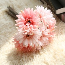 Artificial Flowers Wedding Decoration 7 pcs/lot Daisy Gerbera Flores Plants Fake Bouquet Home Decor