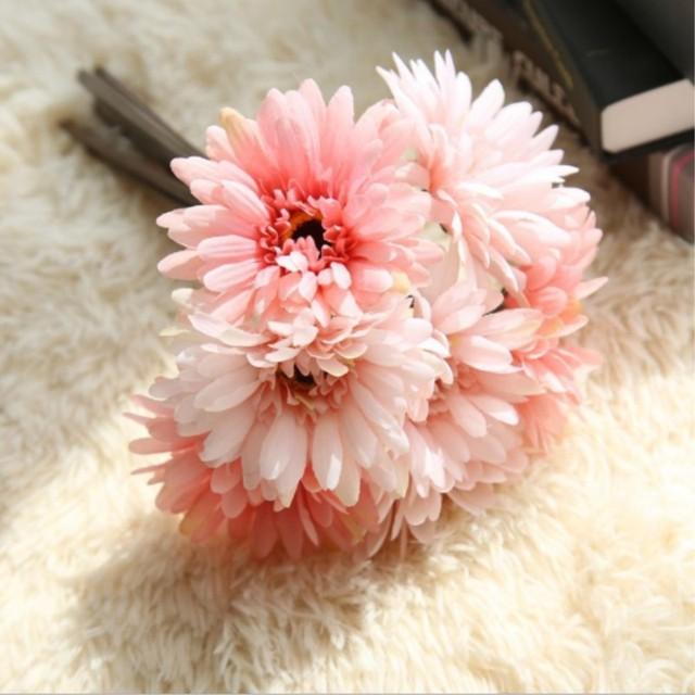 Artificial Flowers Wedding Decoration 7 Pcs Lot Daisy Flowers
