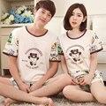 Corea del pijama de verano moda los amantes ropa de dormir de manga corta hombres cartton llevan conjunto de pijama precioso plus size M - XXXL mujeres pijamas