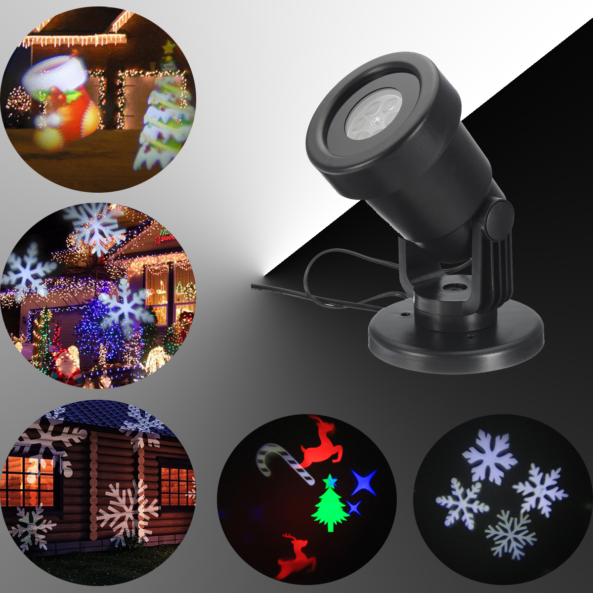 4W LED Night Light Projector 4 Style Christmas Outdoor Moving Holiday Lamps For Children's day Waterproof Night Light Christmas christmas light projector led with 12 switchable patterns indoor and outdoor waterproof spotlight night light for party events