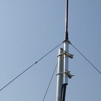 Free Shipping Wholesale 1/4 Wave Aluminum GP Antena with 8m/15m Cable FM Broadcasting FM Antenna