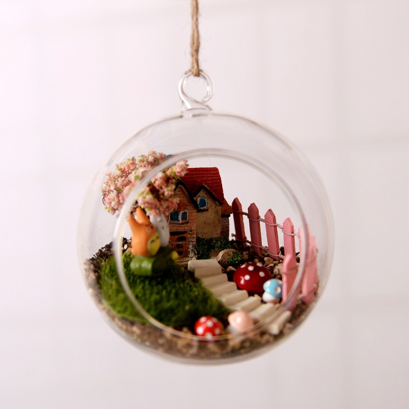 Clear Hanging Glass Candle Tea Light Holder Terrarium Air Plant Globe Ball Home Wedding Party Centerpieces Decor image