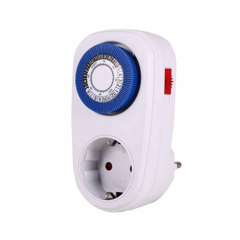 Minuterie interrupteur intelligent compte à rebours prise 24 heures prise mécanique mise à la terre Programmable intérieur automatique mise hors tension
