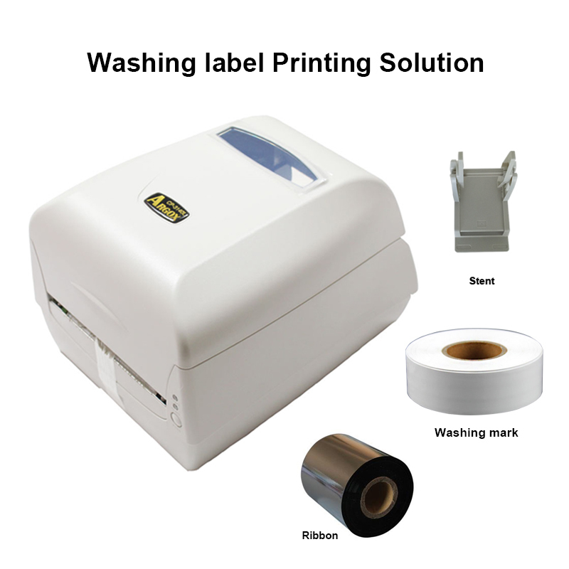 Image 2 - Thermal transfer label printer washing label printing solution with paper holder ribbon and silk clothes label easy for printinglabel printerthermal transfer label printerlabel printer thermal -